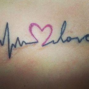 Tatuajes De Latidos De Corazon Un Sencillo Y Elegante Tattoo