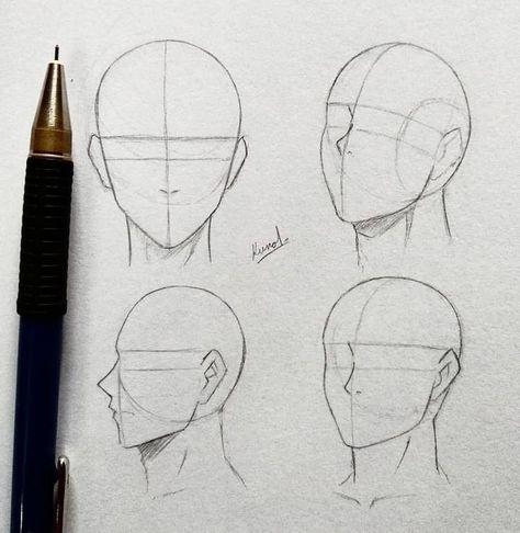 Manga Drawing manga kopf male -