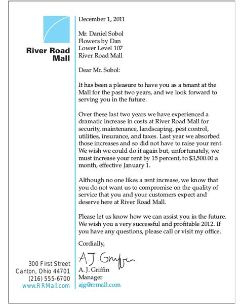 Rent Increase Letter Sample To Tenant  BesikEightyCo