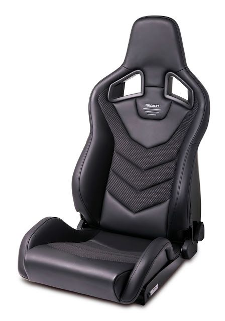 Auto Dynasty Tuner Series Full Reclinable Black Leather Racing Seats With Red Trim Set of 2