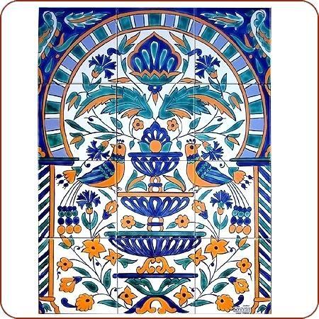 Moroccan Tiles Morning Song Tile Mural Moroccan Tiles For Sale Cape Town Tile Murals Mural Tiles