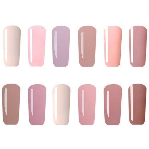 12 Colors Nano White Naked Color System UV Gel Polish Soak