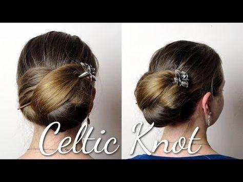 Haartraum Keltischer Knoten Anleitung Youtube Frisuren Langhaar Haarstab Frisur Knoten