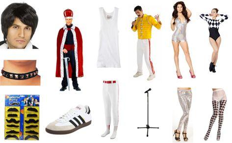 Orion Costumes Mens Yellow Freddie Mercury 80s Rock Queen Fancy Dress Costume