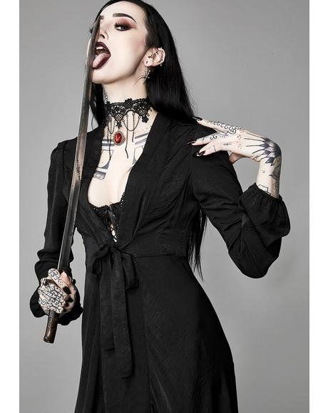 Sinister Savior Satin Robe #dollskill #widow #gothic