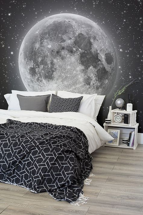 Moon And Stars Wallpaper For Bedrooms More