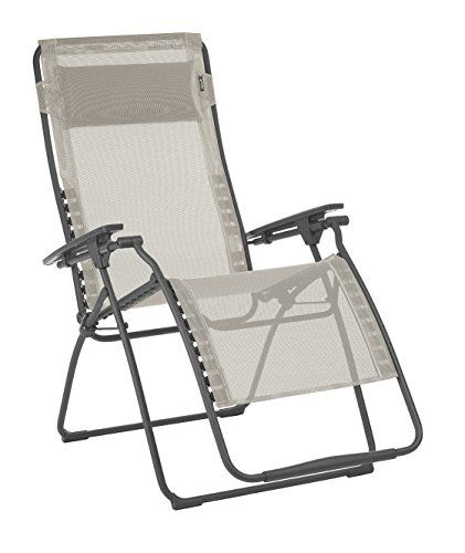 Lafuma Futura Xl Zero Gravity Recliner Basalt Steel Frame Seigle Batyline Fabric In 2020 Lawn Chairs Steel Frame Outdoor Furniture