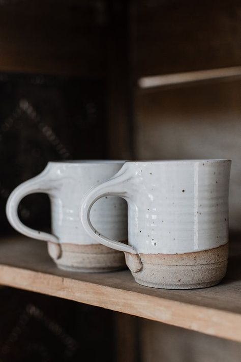 Coffee Mug, hand thrown stoneware pottery mug by Hanselmann Pottery