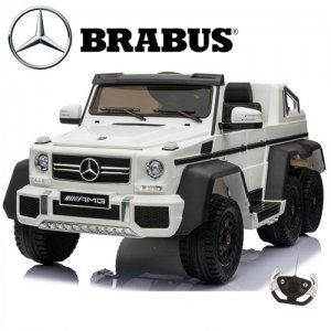 Wow The Massive 2 Seater Licensed 6 Wheel Mercedes Brabus White Kids Ride On Jeep With Remote Control System And This One Is So Kids Jeep Mercedes Brabus Jeep
