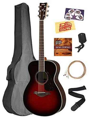 Yamaha Fs830 Solid Top Small Body Acoustic Guitar Tobacco Sunburst Bundle With Gig Bag Tuner Strings Strap Guitar Chords For Songs Acoustic Guitar Guitar
