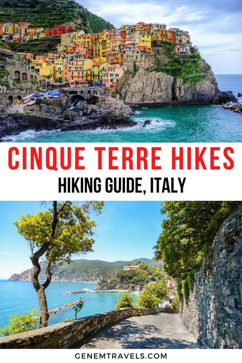 Cinque Terre Hikes, Italy: Hiking Guide with Maps