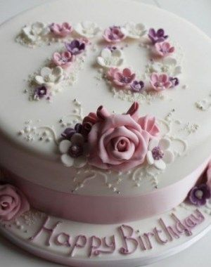 Birthday Cake Ideas For 70 Year Old Lady Kue Makanan Makanan
