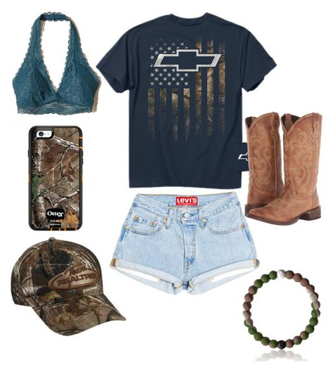 A fashion look from March 2017 featuring Hollister Co. bras, Roper boots and Realtree hats. Browse and shop related looks. Country Girl Outfits, Cute Cowgirl Outfits, Southern Outfits, Rodeo Outfits, Country Girl Style, Country Fashion, Western Outfits, Cute Casual Outfits, Summer Outfits
