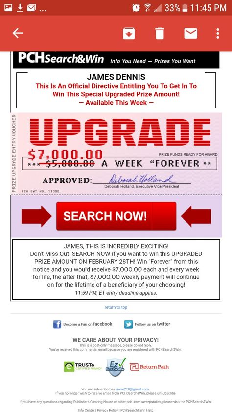 ACTNOW TRANSFER OF FUNDS ENCLOSED $5,000 00 A Week Forever/I
