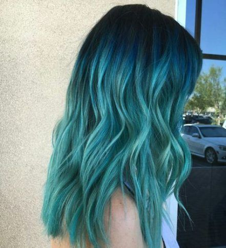 41 Ideas Hair Ombre Turquoise Beautiful For 2019 In 2020 Hair Styles Green Hair Ombre Turquoise Hair