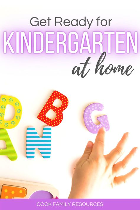 Get ready for kindergarten at home. This post gives parents tips for getting ready for kindergarten at home.  Whether you are looking for help with how to teach kindergarten at home or you are looking for kindergarten readiness activities, this post has some very good literacy activities for kindergarten at home. #kindergartenreadinessparents #kindergartenskills #prekskills