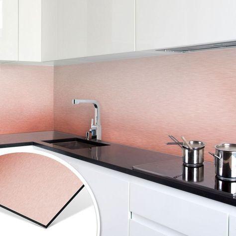 Kuchenruckwand Alu Dibond Kupfereffekt Kupfer Fliesenspiegel