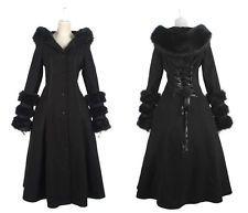 Manteau d'hiver gothique punk lolita cyber réversible fourrure corset Punkrave N