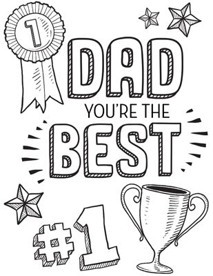 Dad You're The Best Printable Personalized Coloring Pages