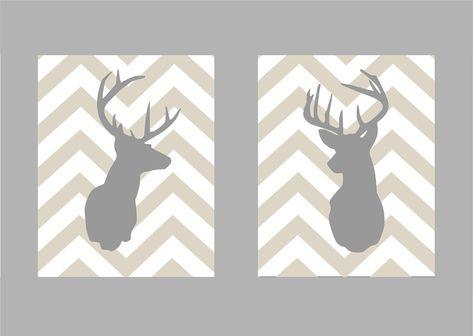 List of Pinterest doe silhouette printable deer heads boy nurseries