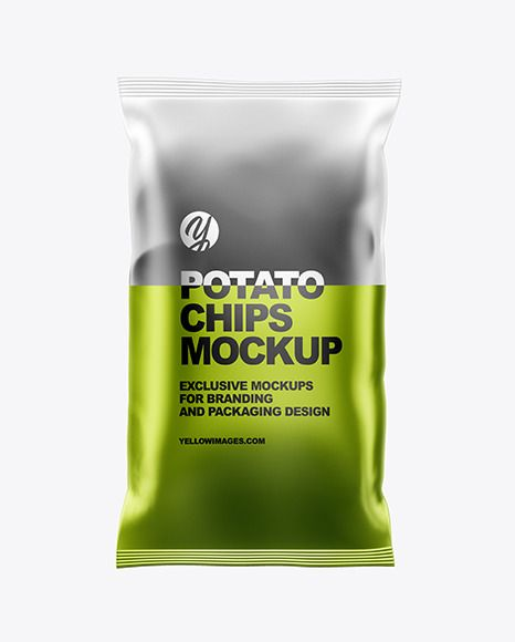Download Frosted Bag With Black Potato Chips Mockup In Bag Sack Mockups On Yellow Images Object Mockups Chip Packaging Black Potatoes Potato Chips