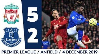 Liverpool Vs Everton 5 2 All Goals And Highlight Hd In 2020 Premier League Highlights Premier League Everton