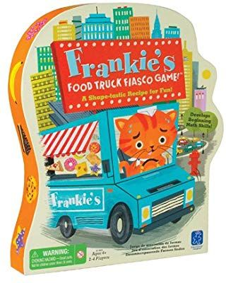 Amazon Com Educational Insights Frankie S Food Truck Fiasco Game Shape Matching Game Toys Game Educational Insights Preschool Games Preschool Board Games