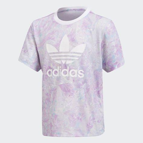 adidas pastel rose print tee