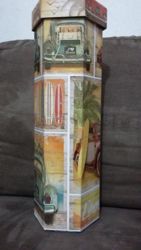 Atelier Caixa e Encaixa - Caixa para Vinho - Customizada, é só escolher o tema!