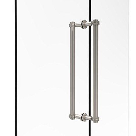 Contemporary 18 Inch Back To Back Shower Door Pull With Dotted Accent