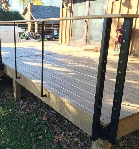 Cable Rail Deck Posts Etsy Deck Posts Diy Deck Building A Deck