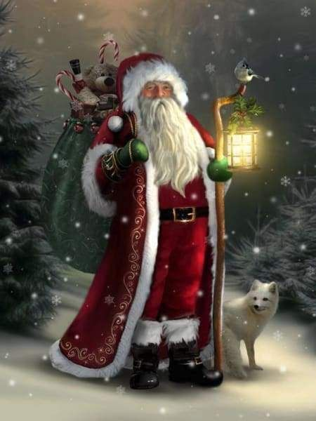 Santa In The Forest Christmas Pictures Images Art