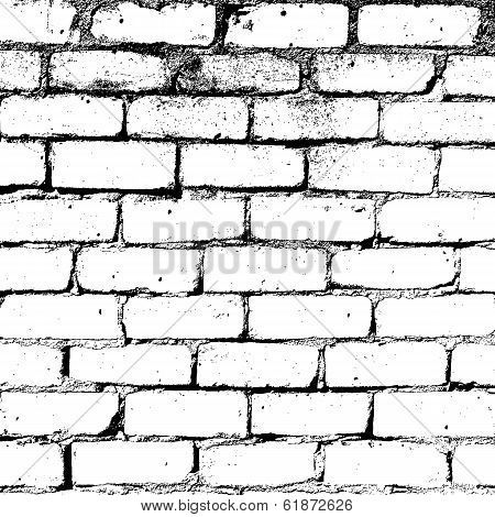 Brick Wall Overlay Texture For Your Design Eps10 Vector Poster Id 61872626 Brick Wall Drawing Grafitti Wall Wall Drawing