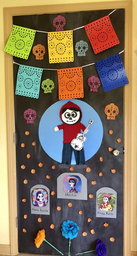 Coco Door Decorating In 2019 Halloween Door Halloween