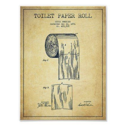 Toilet Digital Art Toilet Paper Roll Patent Draw Poster Decor Gifts Diy Home Living Cyo Giftidea Patent Art Prints Toilet Paper Patent Patent Drawing