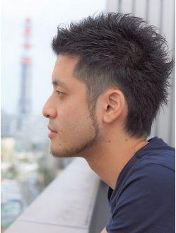 ツーブロック ウルフスタイル アジアの男性のヘアスタイル メンズ