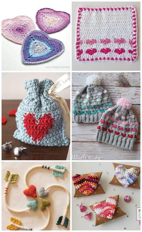 Crochet Heart Patterns for Valentine\'s Day   Crafty stuff   Pinterest