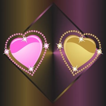 Elegant Pink And Golden Diamond Heart Heart Clipart Diamond Heart Pink Heart Png And Vector With Transparent Background For Free Download In 2021 Pink Heart Diamond Heart Diamond Vector