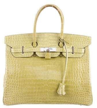 Porosus Crocodile Birkin 35 Hermes Bag Birkin Hermes Handbags Luxury Handbag Brands