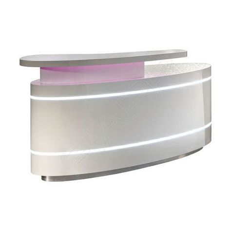 Mostrador de recepción recto / laminado / con luz / para peluquería ELLIPSE 871…