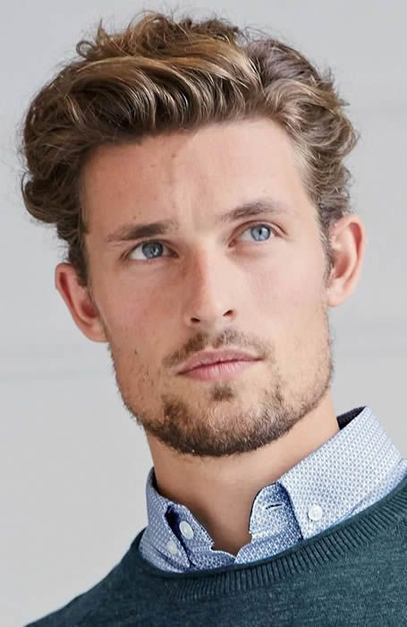 Medium Curly Quiff Wavy Hair Men Medium Hair Styles Mens Hairstyles