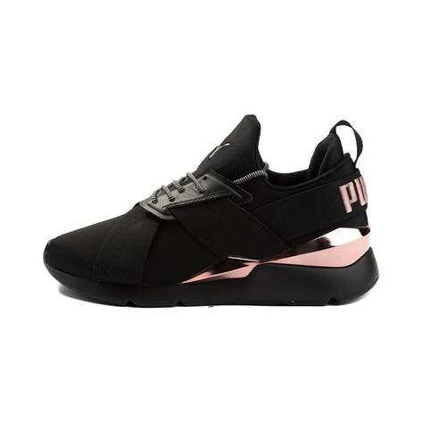 c41dc10d1c9b Womens Puma Muse Metal Athletic Shoe - black - 361766