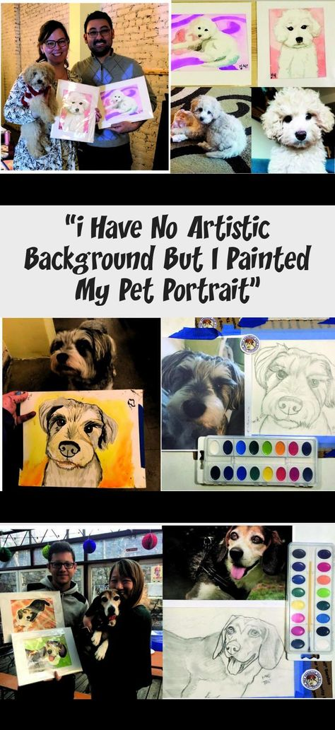 """"""" I ended up with a beautiful watercolor painting of our pup and this is coming from someone who struggles to draw stick figures. Michele breaks down each step so it isn't overwhelming, but really fun. She's also just really sweet and personable and you can tell she loves the pups, too.  #DogsTreats #DogsMom #DogsDecor #DogsAccessories #DogsWalking"""