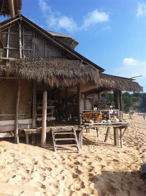 Beach huts at Balangan. Bali