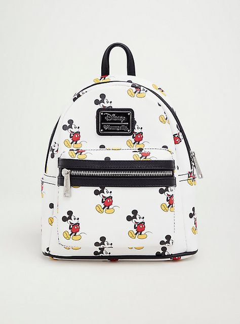 Loungefly x Disney Mickey Mouse Faux Leather Mini Backpack Cody Simpson, Mickey Mouse Backpack, Mickey Mouse Outfit, Cute Mini Backpacks, Stylish Backpacks, Mode Kawaii, Faux Leather Backpack, Disney Merchandise, Friends Merchandise