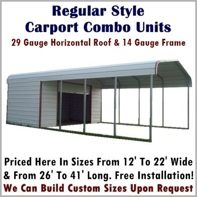 Carport With Shed Attached Spectacular Storage Combo Units Metal