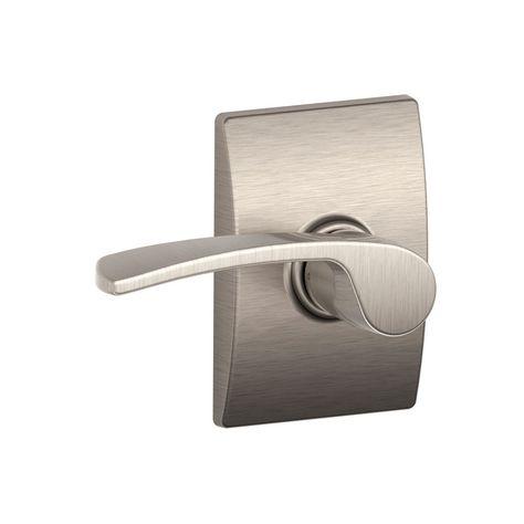 Satin Nickel Front Door Handle set brushed nickel entrance  keyed lever lock 838