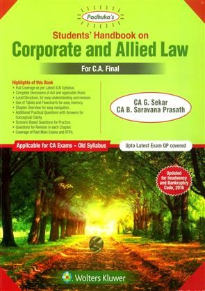 Students Handbook on Corporate and Allied Law for CA Final
