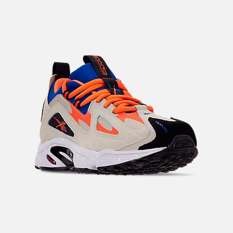 e8fd054b1b Three Quarter view of Men's Reebok DMX 1200 Casual Shoes in  Parchment/Royal/Grey/Lava/White