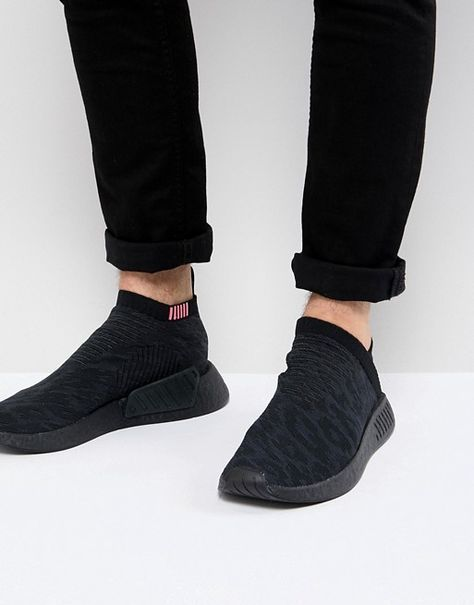 adidas Originals NMD CS2 Primeknit Boost Sneakers In Black